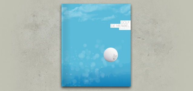 Couverture de la brochure du golf de M�ribel 2011