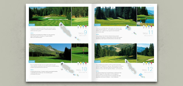 Pages int�rieures de la brochure du golf de M�ribel 2011