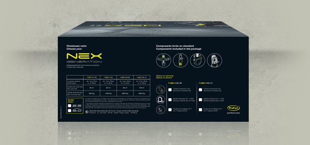 Face arri�re du packaging Nex Generation de Profurl